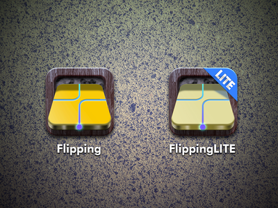 Flipping icons - before skeuomorph ios game