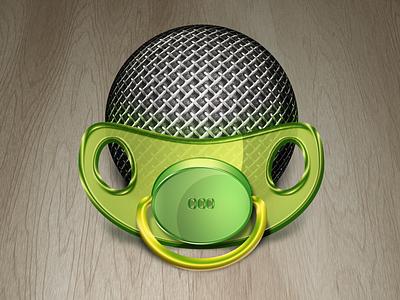DummyPhone App Icon dummy baby microphone