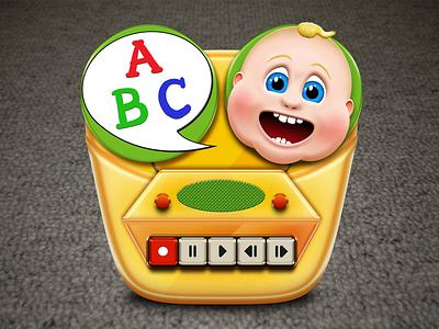 Baby Recorder App Icon tape recorder baby app icon