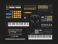 Artist Gear Grid - ODESZA