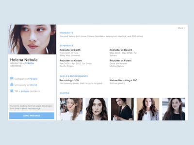 DailyUI - LinkedIn User Profile