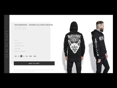 DailyUI - BlackCraft Cult  E-Commerce Shop
