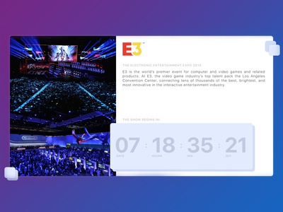 DailyUI - E3 Countdown Page