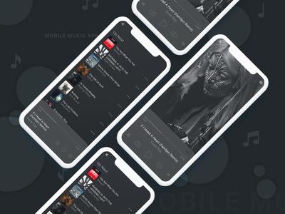 DailyUI -  Mobile Music App
