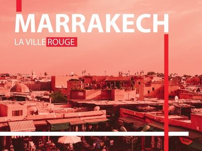 Marrakech Catalogue Cover photoshop graphic design typography catalogue design cover design