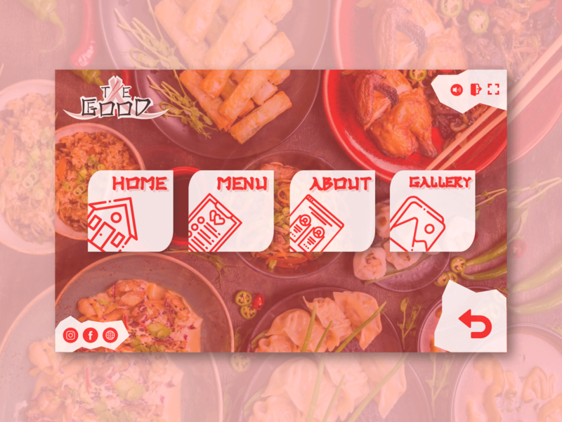 Restaurant app design interface