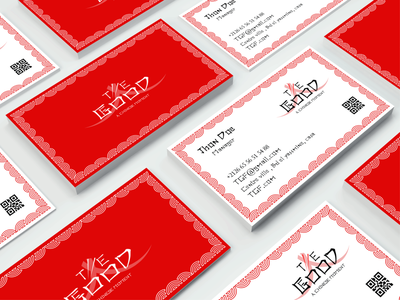 Chinese restaurant business card restaurant chinese food businesscard identity graphic design illustrator branding design