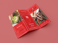 Restaurant tri fold brochure design