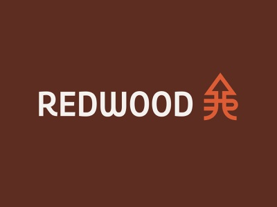 Redwood Logo real estate financial investment roots arrow tree redwood