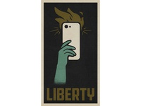 Liberty Poster protest america freedom liberty black lives matter george floyd