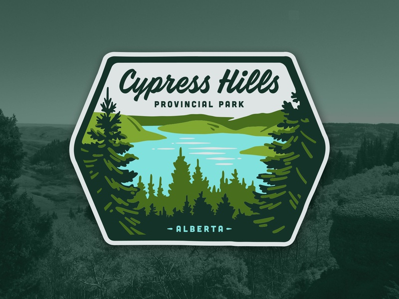 Cypress Hills Badge illustrations outdoors illustration patch badge parks