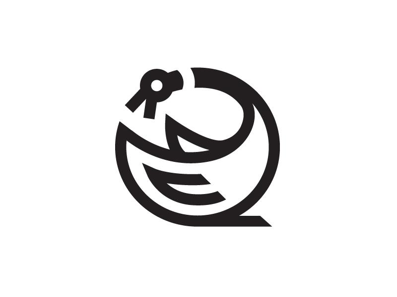 Canada Goose canada goose thick lines icon logo
