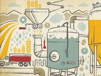 Brewsters Wall Graphic Illustration