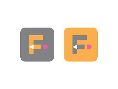 Flippbooks flipbook pencil notebook icon logo