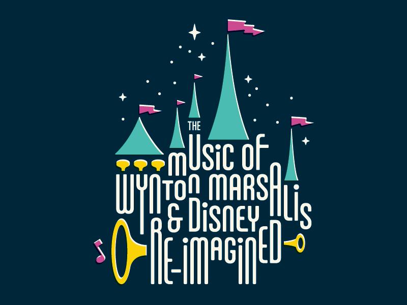 Calgary Jazz Orchestra Poster (Marsalis/Disney) horn toot pixie dust glitter cinderella castle trumpet marsalis disney jazz