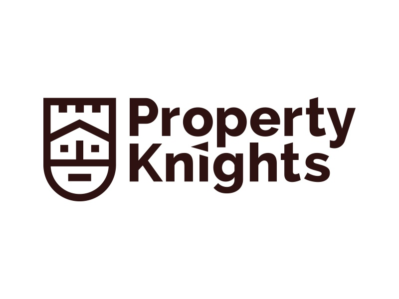 Property Knights Logo lines thick king castle house beard logo knight