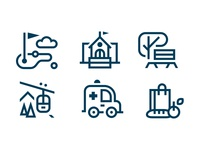 Amenities Icon Set