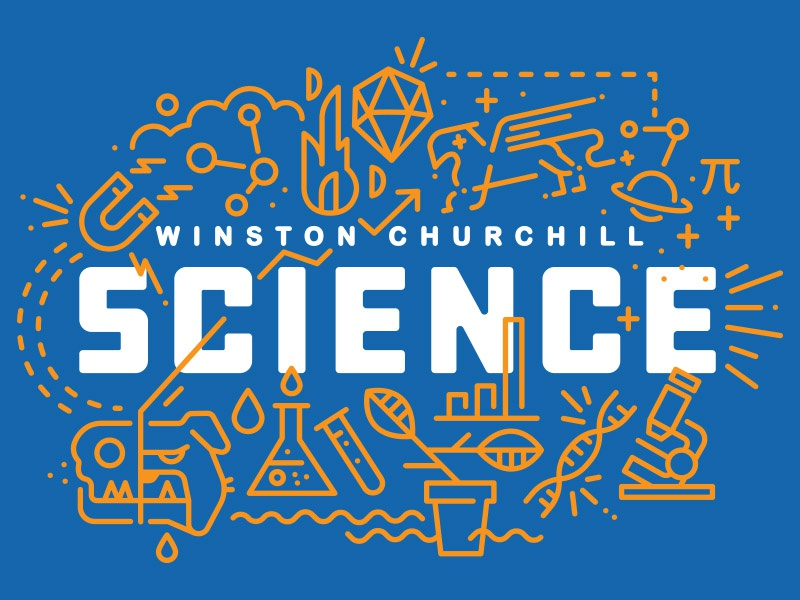 WCHS Official Science Dept. Tee magnet microscope high school winston churchill griffin bulldog physics chemistry biology science