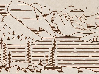 Lake Louise 2 Ways (1 of 2) landscape illustration mountains lake louise