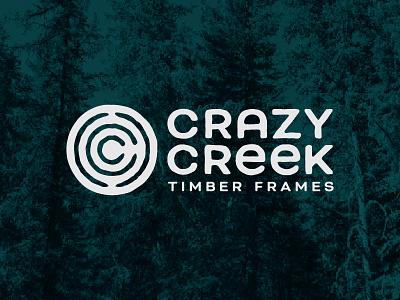 Crazy Creek Timber Frames Logo crazy creek c tree ring lumber frames timber logo