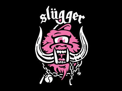 Sluggerhead Mashup punk metal motorhead pink mashup illustration