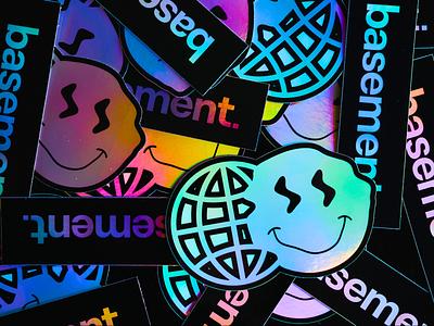 Holo Stickers logo identity branding brand basement visual design design sticker mule stickermule stickers