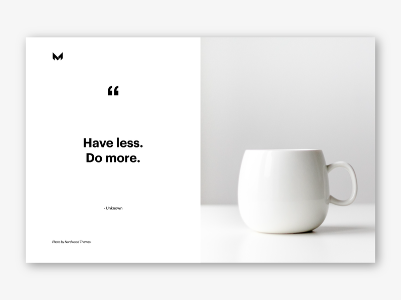 minimal quotes no by facu montanaro on dribbble