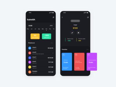 SubteBA - Dark mode