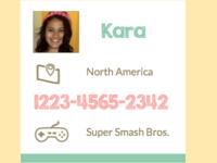 Friendcode.me Card