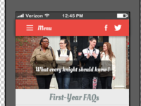 Header for Mobile web app