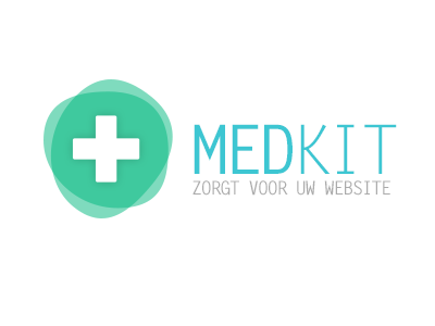 MEDKIT logo medic pharma medical flat