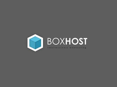 Logo BOXHOST webhosting webhosting logo boxhost cube box hosting pixel hexagon