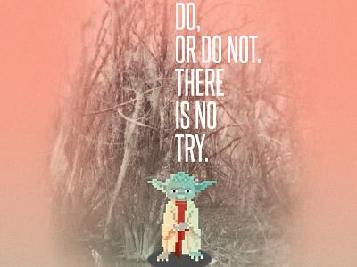 Yoda Motivational Poster poster quotes yoda star wars