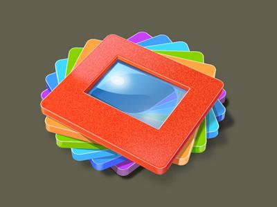 Slide Viewer logo icoeye slides image icon