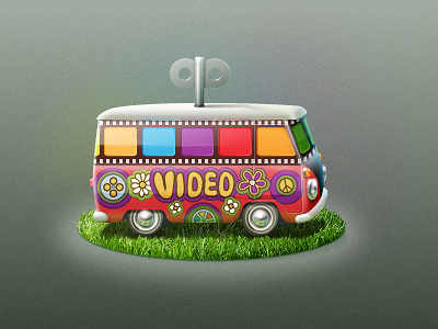 Video tuner main icon minibus icon icoeye