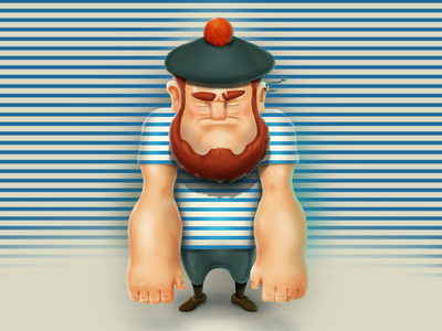 A sailor. A game character concept illustration game art concept character