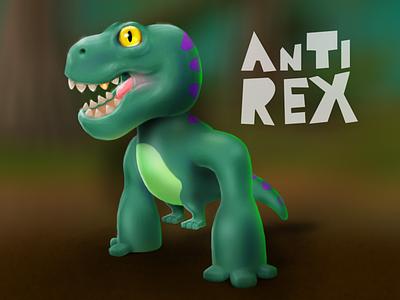 AnTi Rex gameart game-design icoeye game illustration