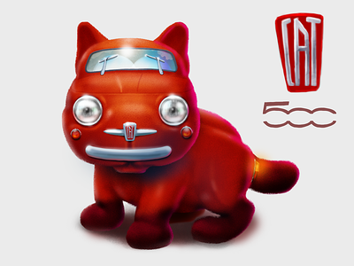 Cat 500 concept character concept character icoeye illustration