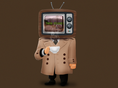 Agent TV twin peaks character illustration art illustration