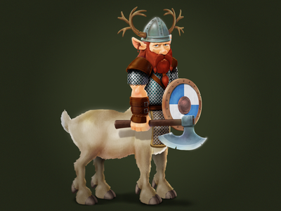 Nordic centaur. A game character concept game art gameart gamedev character art charactedesign character concept icoeye character game-design illustration