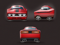 Game concept: a muscle car