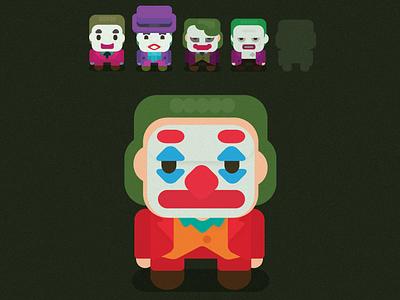 Flat Joker illustrator vector flat fanart character icoeye illustration