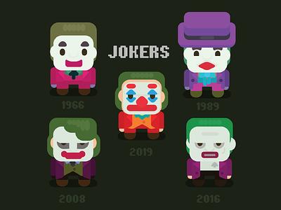 Flat Jokers comics joker fanart design character illustration