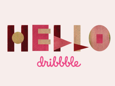 Hello type shapes thank you design pattern color color exploration