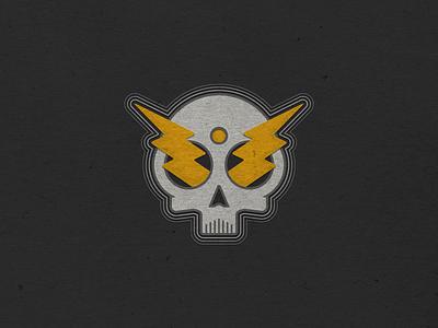 Skull & Bolts stickers skulls skull logo icon vector vermont illustration logo design vectorart logo graphic design