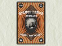 Circus Freak Label