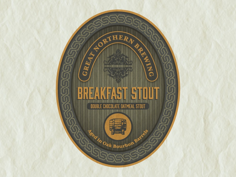 Breakfast Stout Label beer vermont packaging design graphicdesign vintage beerlabel product design branding labels