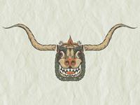 Tibetan Cow Mask