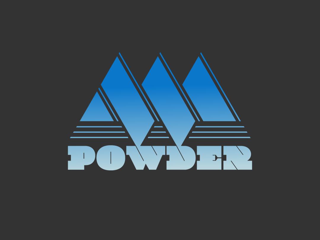 Powder Day snow powder snowday icon typography logo design stickers vector vermont labels vectorart marketing logo graphic design design branding