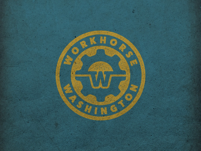 Workhorse washington vermont vermont artist letter w grunge effect stamp effect industrial logo logo design graphic design logos